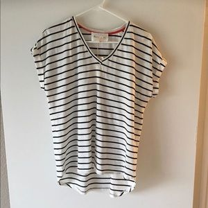 Vince Camuto Black & White Stripe Shirt
